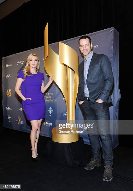 Actors Katheryn Winnick and David Sutcliffe attend the Academy's 2014 CSA Press Conference at the Ritz Carlton on January 13 2014 in Toronto Canada