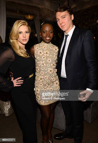 Actors Katheryn Winnick Lupita Nyong'o and Paul Dano attend the Entertainment Weekly celebration honoring this year's SAG Awards nominees sponsored...