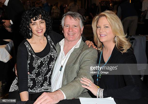 Actors Kathleen Beller Gordon Thomson and Leann Hunley at The Hollywood Show held at The Westin Hotel LAX on January 24 2015 in Los Angeles California
