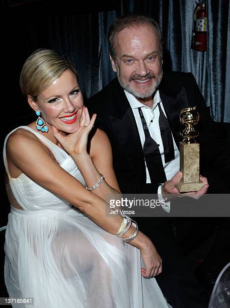 Actors Kathleen Robertson and Kelsey Grammer attend The Weinstein Company's 2012 Golden Globe Awards After Party with Chopard Marie Claire and HP at...