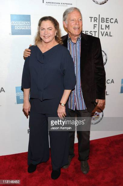 Actors Kathleen Turner and Richard Chamberlain attend the premiere of 'The Perfect Family' at the 2011 Tribeca Film Festival at BMCC Tribeca PAC on...