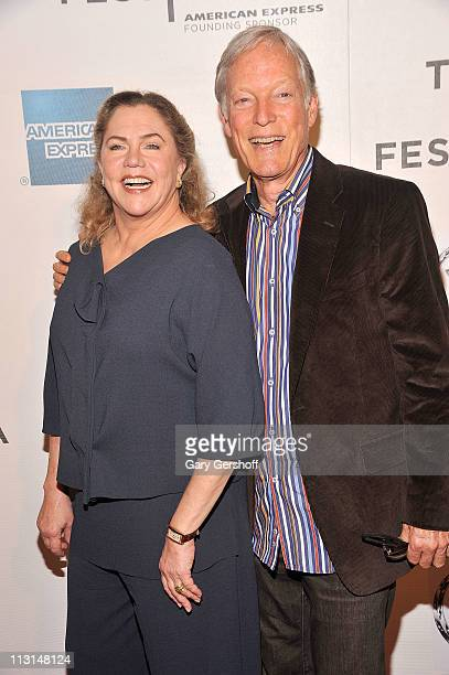 Actors Kathleen Turner and Richard Chamberlain attend the premiere of 'The Perfect Family' during the 10th annual Tribeca Film Festival at BMCC...
