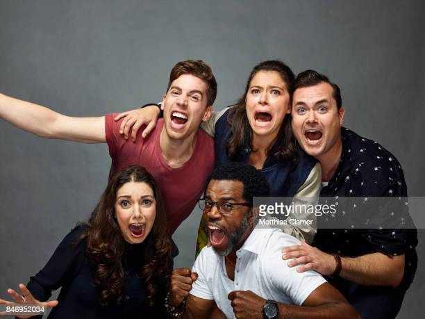 Actors Kathryn Alexandre Jordan Gavaris Kevin Hanchard Tatiana Maslany and Kristian Bruun from 'Orphan Black' are photographed for Entertainment...