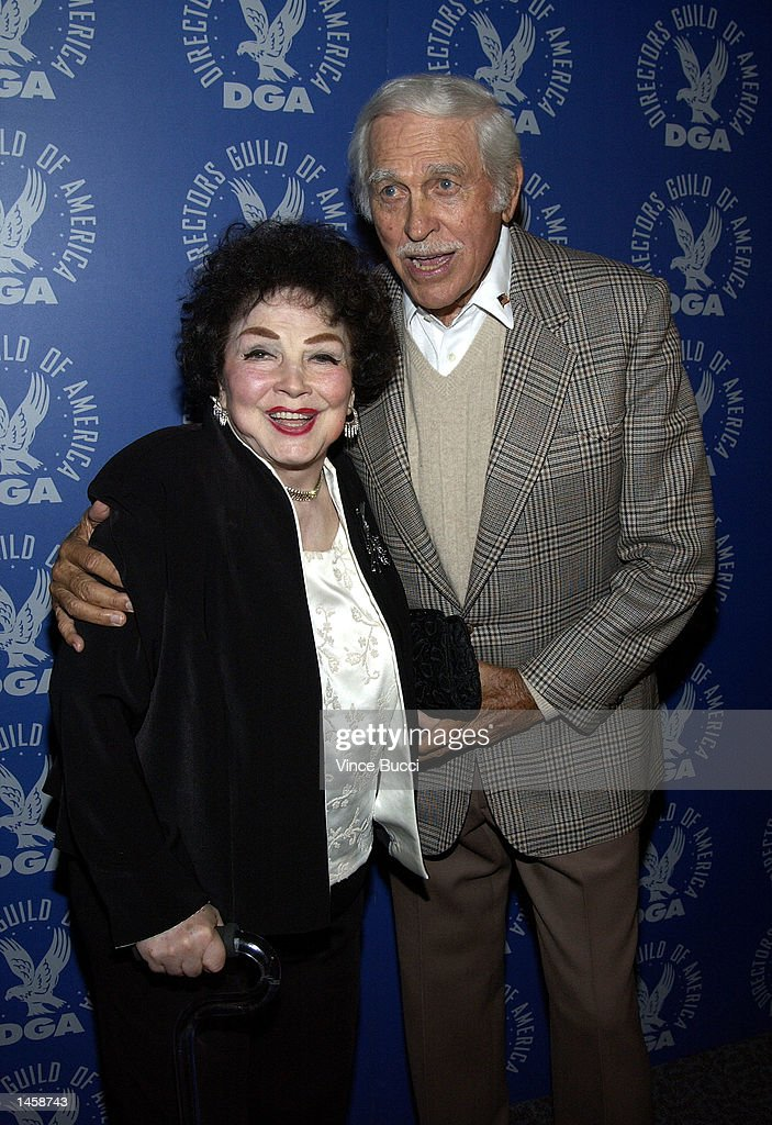 Actors Kathryn Grayson and Howard Keel attend a tribute to the career of the late director George Sidney on October 3, 2002 at the Directors Guild of America in Hollywood, California.
