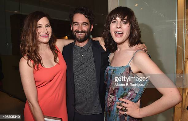 Actors Kathryn Hahn Jay Duplass and Hari nef attend the Premiere Of Amazon's 'Transparent' Season 2 at SilverScreen Theater at the Pacific Design...