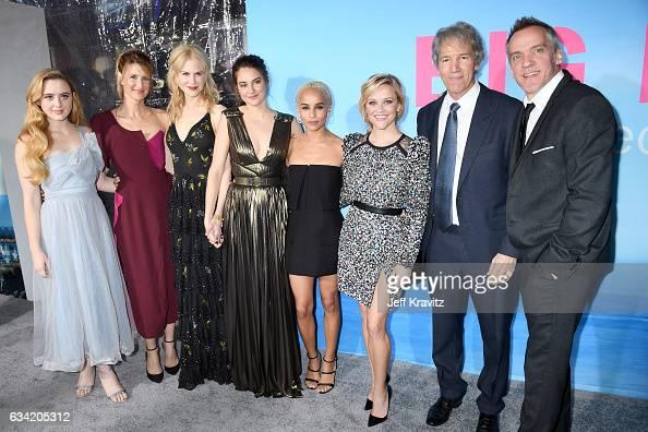 Actors Kathryn Newton Laura Dern Nicole Kidman Shailene Woodley Zoe Kravitz Reese Witherspoon writer/Executive producer David E Kelley and...