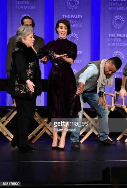 Actors Kathy Bates Sarah Paulson Cuba Gooding Jr attend The Paley Center For Media's 34th Annual PaleyFest Los Angeles 'American Horror Story...