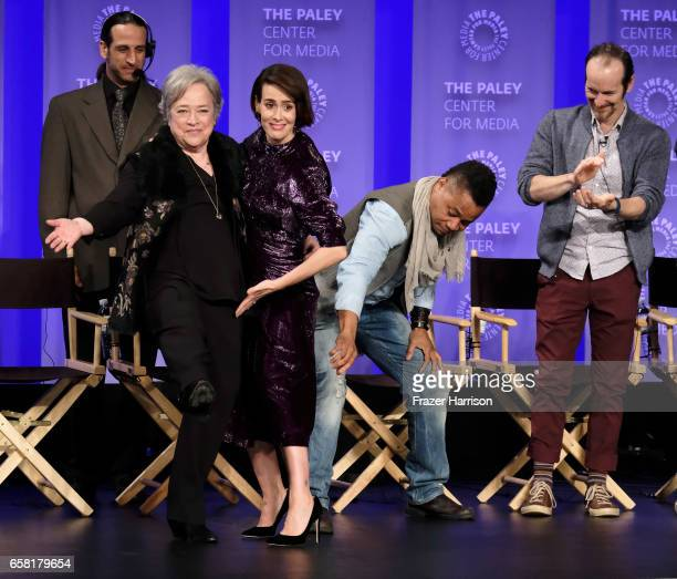 Actors Kathy Bates Sarah Paulson Cuba Gooding Jr Denis O'Hare attend The Paley Center For Media's 34th Annual PaleyFest Los Angeles 'American Horror...