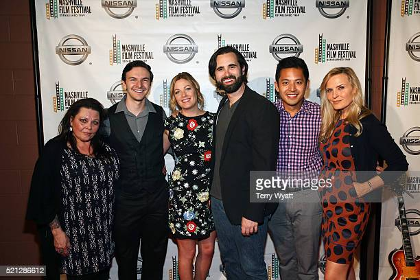 Actors Kathy Cash Jonathan Everett Emily Todoran Jacob York Daniel Chioco and Claudia Church attend the premiere of 'What's the Matter with Gerald'...