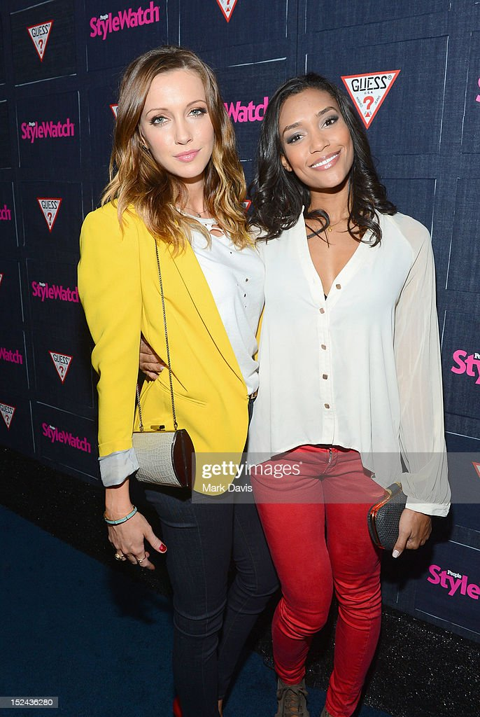 Actors Katie Cassidy and Annie Ilonzeh attend People StyleWatch Hollywood Denim Party at Palihouse on September 20, 2012 in Santa Monica, California.