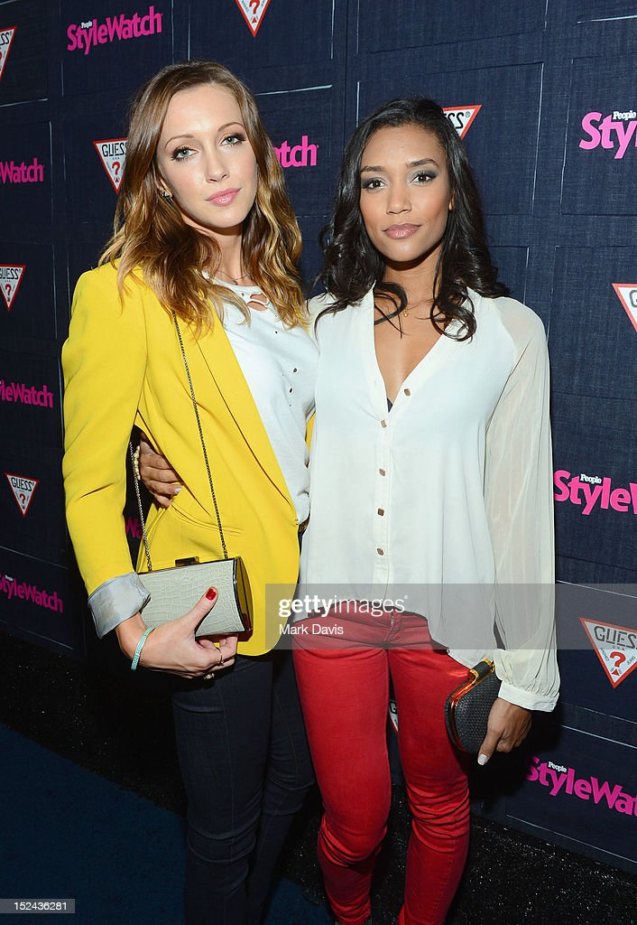 Actors <a gi-track='captionPersonalityLinkClicked' href=/galleries/search?phrase=Katie+Cassidy&family=editorial&specificpeople=569891 ng-click='$event.stopPropagation()'>Katie Cassidy</a> and <a gi-track='captionPersonalityLinkClicked' href=/galleries/search?phrase=Annie+Ilonzeh&family=editorial&specificpeople=6860834 ng-click='$event.stopPropagation()'>Annie Ilonzeh</a> attend People StyleWatch Hollywood Denim Party at Palihouse on September 20, 2012 in Santa Monica, California.