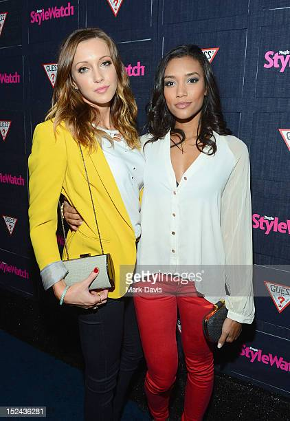 Actors Katie Cassidy and Annie Ilonzeh attend People StyleWatch Hollywood Denim Party at Palihouse on September 20 2012 in Santa Monica California