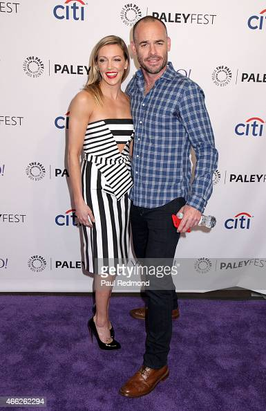 Actors Katie Cassidy and Paul Blackthorne attend The Paley Center For Media's 32nd Annual PALEYFEST LA 'Arrow' And 'The Flash' at Dolby Theatre on...
