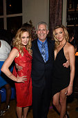 Actors Katie Cassidy Mark Pedowitz President of The CW Network and Caity Lotz attend the CW Network's 2015 Upfront party at Park Avenue Spring on May...
