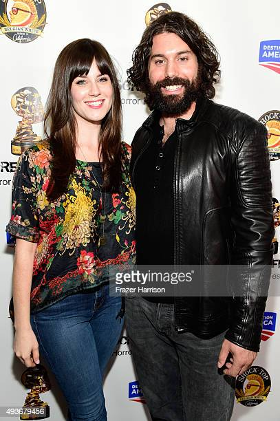 Actors Katie Featherston and Micah Sloat attend a screening and QA at Screamfest for the Original Paranormal Activity at the TCL Chinese Theatre on...