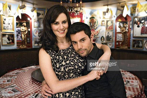 Actors Katie Featherston and Micah Sloat poses at a portrait session at the Buca Di Beppo restaurant in Universal City on Oct 20 2009 for the Los...