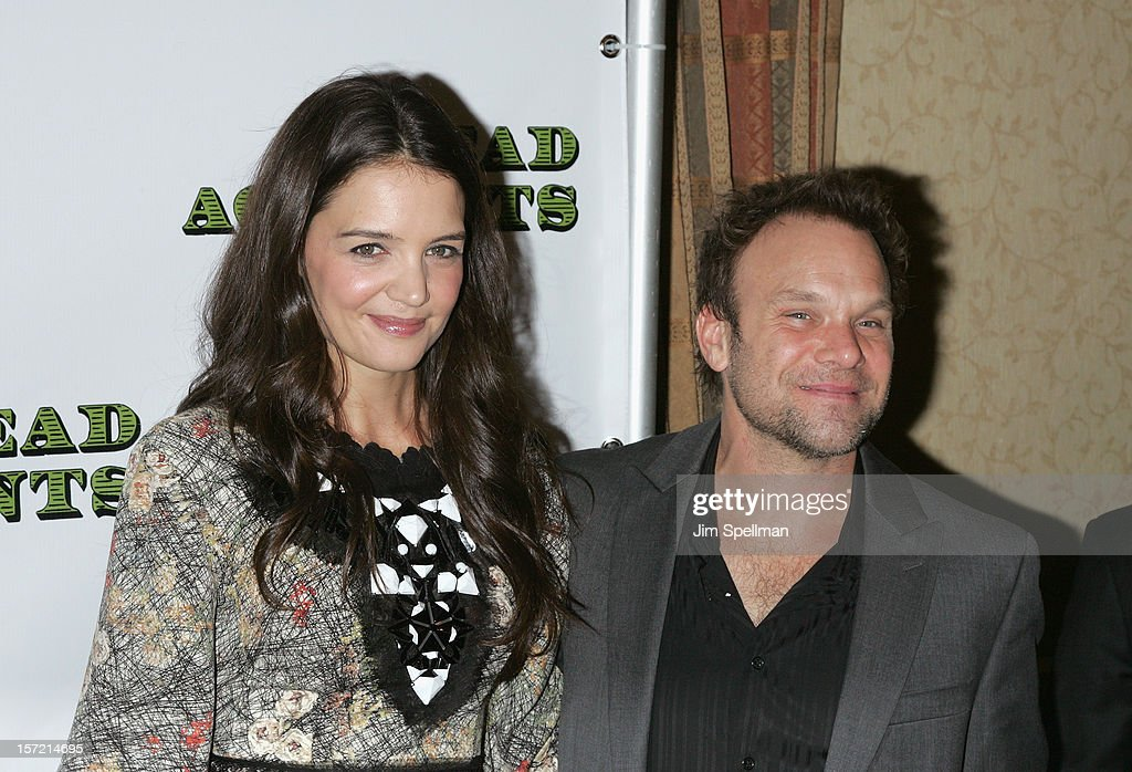 Actors <a gi-track='captionPersonalityLinkClicked' href=/galleries/search?phrase=Katie+Holmes&family=editorial&specificpeople=201598 ng-click='$event.stopPropagation()'>Katie Holmes</a> and <a gi-track='captionPersonalityLinkClicked' href=/galleries/search?phrase=Norbert+Leo+Butz&family=editorial&specificpeople=206859 ng-click='$event.stopPropagation()'>Norbert Leo Butz</a> attend 'Dead Accounts' Broadway Opening Night After Party at Gotham Hall on November 29, 2012 in New York City.