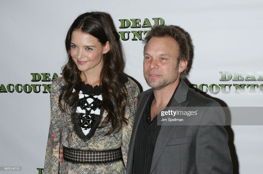 Actors Katie Holmes and Norbert Leo Butz attend 'Dead Accounts' Broadway Opening Night After Party at Gotham Hall on November 29, 2012 in New York City.