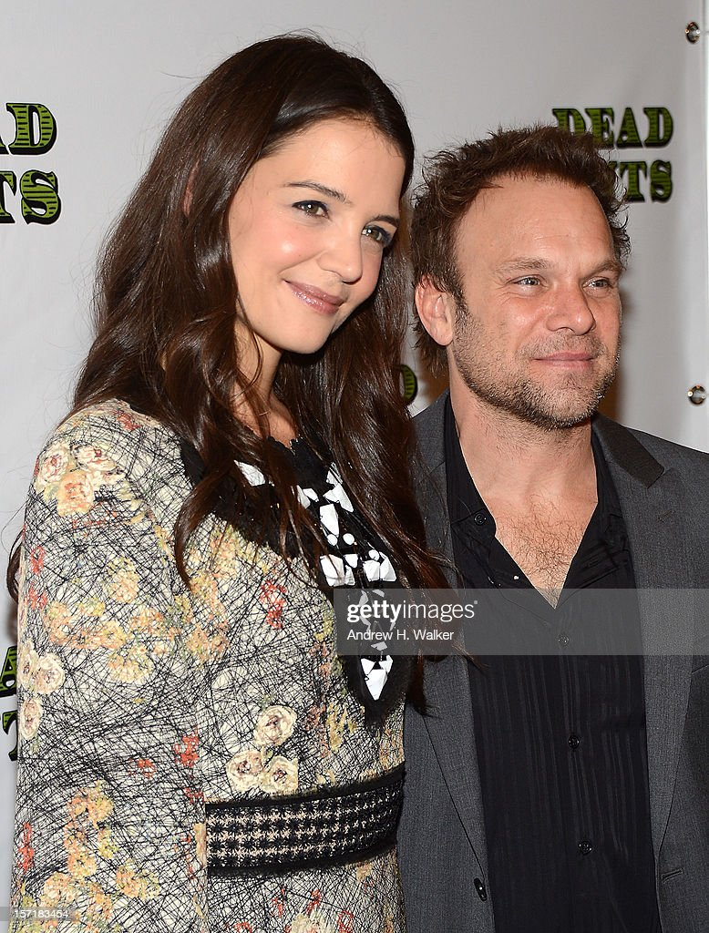 Actors Katie Holmes and Norbert Leo Butz attend the 'Dead Accounts' Broadway opening night after party at Gotham Hall on November 29, 2012 in New York City.