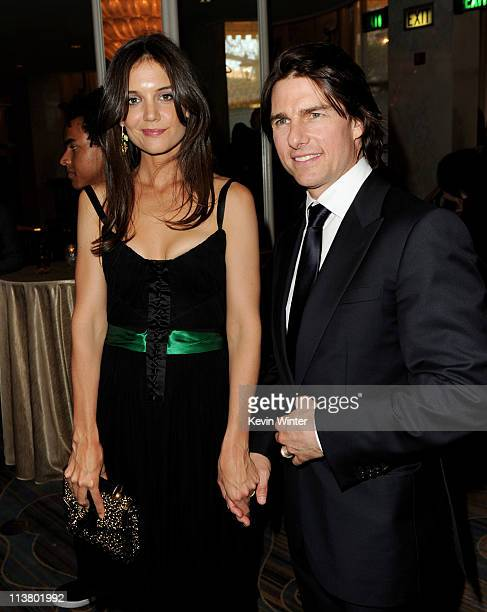 Actors Katie Holmes and Tom Cruise arrive at the Simon Wiesenthal Center's Annual National Tribute Dinner at the Beverly Wilshire Hotel on May 5 2011...