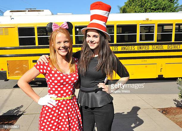 Actors Katie Leclerc and Vanessa Marano read to students as part of SAG Foundation's 'Storyline Online Reading' at Shenandoah Street Elementary...
