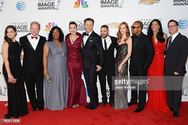 Actors Katie Lowes Jeff Perry writer/producer Shonda Rhimes actors Bellamy Young Tony Goldwyn Guillermo Diaz Darby Stanchfield Columbus Short...