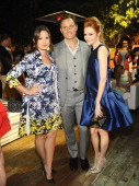 Actors Katie Lowes Tony Goldwyn and Darby Stanchfield attend the InStyle Summer Soiree held Poolside at the Mondrian hotel on August 14 2013 in West...