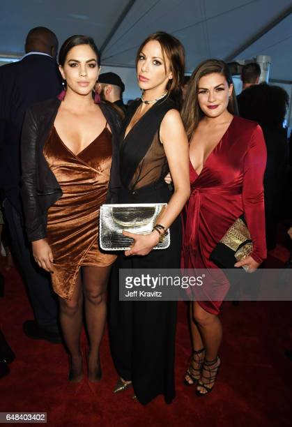 Actors Katie Maloney Kristen Doute and Brittany Cartwright attend the 2017 iHeartRadio Music Awards which broadcast live on Turner's TBS TNT and...