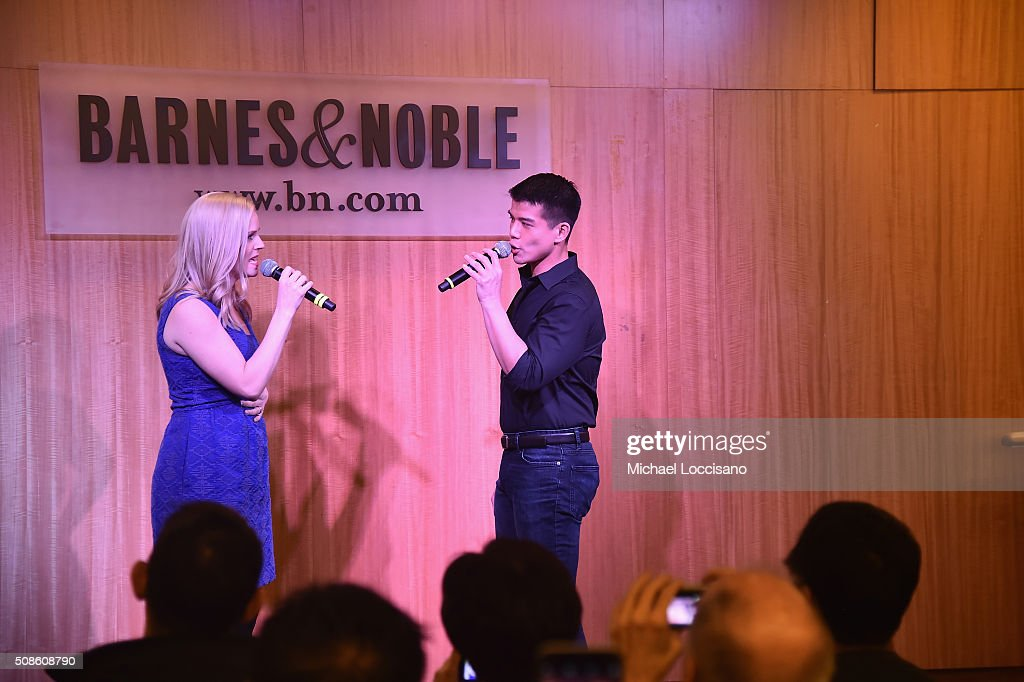 Actors Katie Rose Clarke and Telly Leung promote the original Broadway cast recording of 'Allegiance' at Barnes & Noble, 86th & Lexington on February 5, 2016 in New York City.