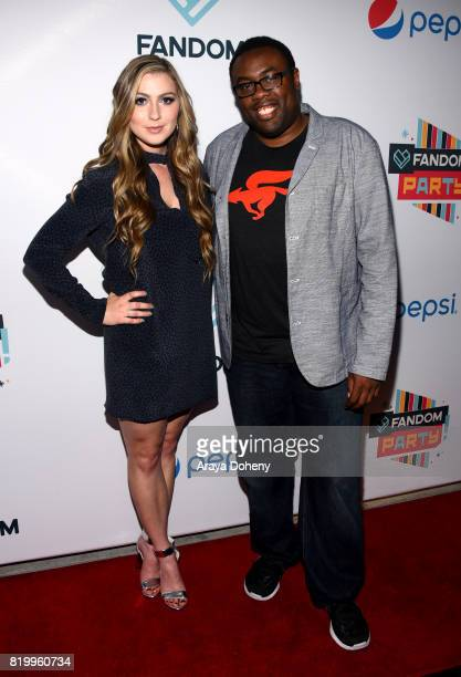 Actors Katie Wilson and Andre Meadows at the FANDOM Party during ComicCon International 2017 at Hard Rock Hotel San Diego on July 20 2017 in San...