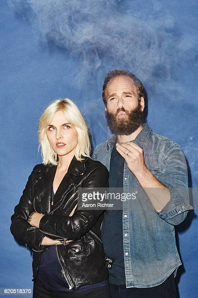Actors Katja Blichfeld and Ben Sinclair are photographed for GQ Magazine US on July 9 2016 in Brooklyn New York