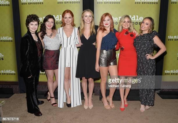 Actors Katlin Mastandrea Blaine Saunders Galadriel Stineman Greer Grammer Grace Bannon Brittany Ross and Natalie Lander attend ABC's celebration of...