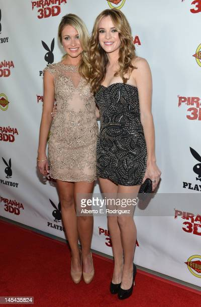 Actors Katrina Bowden and Danielle Panabaker arrive to the premiere of Dimension Films' 'Piranha 3DD' at Mann Chinese 6 on May 29 2012 in Los Angeles...