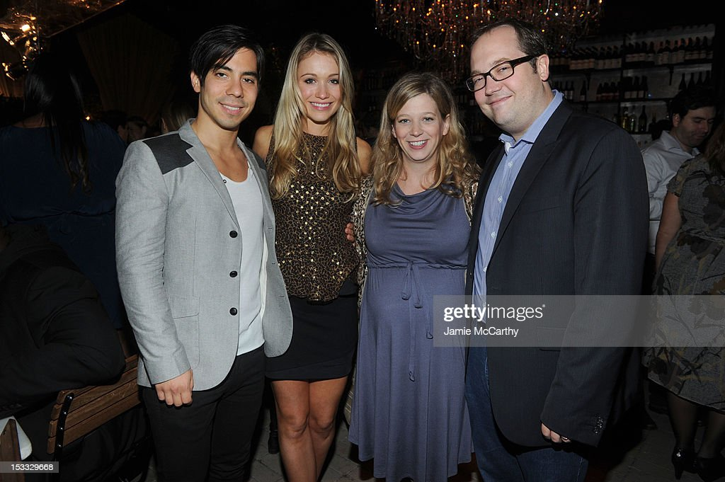 Actors <a gi-track='captionPersonalityLinkClicked' href=/galleries/search?phrase=Katrina+Bowden&family=editorial&specificpeople=4272761 ng-click='$event.stopPropagation()'>Katrina Bowden</a>, Sue Galloway, and John Lutz attend Entertainment Weekly and NBC's celebration of the final season of 30 Rock sponsored by Garnier Nutrisse on October 3, 2012 in New York City.