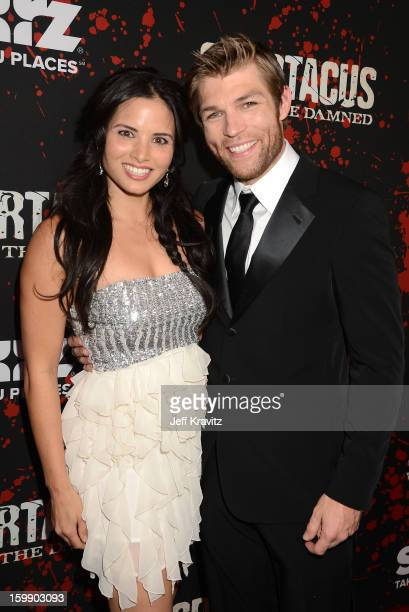 Actors Katrina Law and Liam McIntyre attend the 'Spartacus War Of The Damned' premiere at Regal Cinemas LA LIVE Stadium 14 on January 22 2013 in Los...