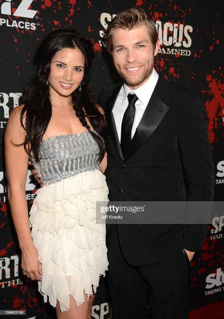 Actors <a gi-track='captionPersonalityLinkClicked' href=/galleries/search?phrase=Katrina+Law&family=editorial&specificpeople=4529605 ng-click='$event.stopPropagation()'>Katrina Law</a> (L) and <a gi-track='captionPersonalityLinkClicked' href=/galleries/search?phrase=Liam+McIntyre&family=editorial&specificpeople=7988275 ng-click='$event.stopPropagation()'>Liam McIntyre</a> attend the 'Spartacus: War Of The Damned' premiere at Regal Cinemas L.A. LIVE Stadium 14 on January 22, 2013 in Los Angeles, California.