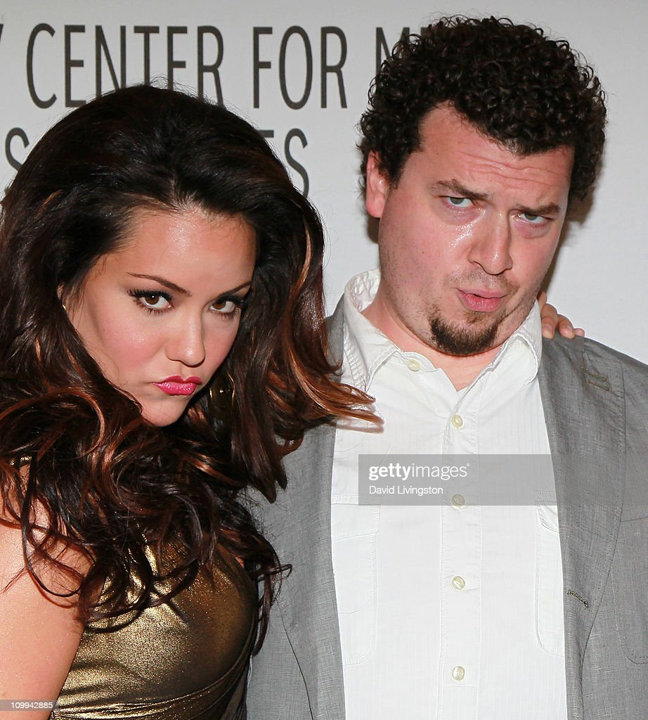 Actors katy mixon l and danny mcbride attend the paley center for