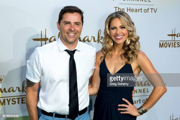 Actors Kavan Smith and Pascale Hutton arrive for the 2017 Summer TCA Tour Hallmark Channel And Hallmark Movies And Mysteries on July 27 2017 in...