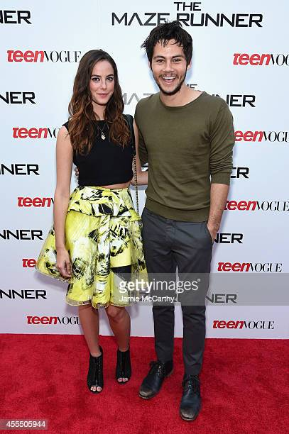 Actors Kaya Scodelario and Dylan O'Brien attend the 'Maze Runner' New York City screening hosted by Twentieth Century Fox and Teen Vogue at SVA...