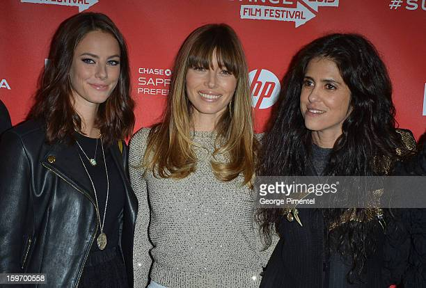 Actors Kaya Scodelario and Jessica Biel and director Francesca Gregorini attend the 'Emanuel and The Truth About Fishes' Premiere during the 2013...