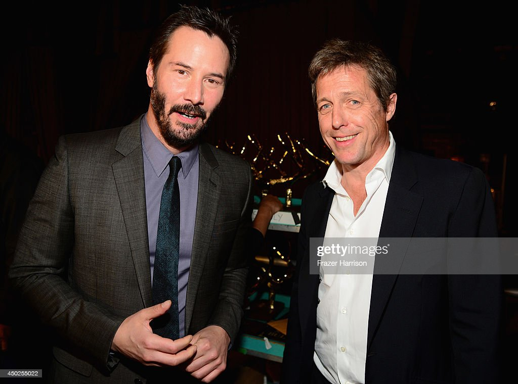 Actors Keanu Reeves (L) and Hugh Grant attend Spike TV's 'Guys Choice 2014' at Sony Pictures Studios on June 7, 2014 in Culver City, California.