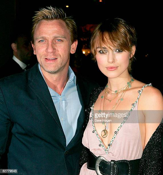 Actors Keira Knightley and Daniel Craig attend Screening of 'The Jacket' at the Rex Cinema and bar on May 9 2005 in London England