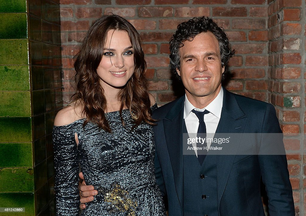 Actors <a gi-track='captionPersonalityLinkClicked' href=/galleries/search?phrase=Keira+Knightley&family=editorial&specificpeople=202053 ng-click='$event.stopPropagation()'>Keira Knightley</a> and <a gi-track='captionPersonalityLinkClicked' href=/galleries/search?phrase=Mark+Ruffalo&family=editorial&specificpeople=209317 ng-click='$event.stopPropagation()'>Mark Ruffalo</a> attend the 'Begin Again' New York premiere after party at The Bowery Hotel on June 25, 2014 in New York City.