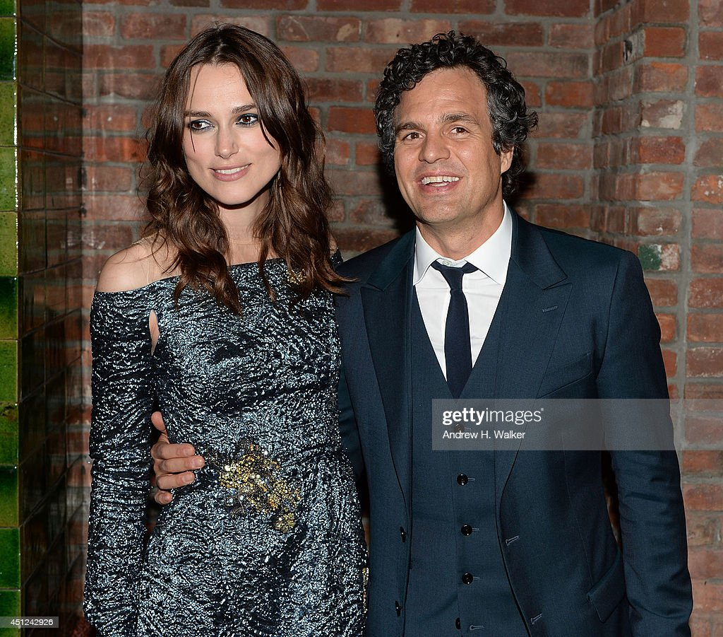 Actors Keira Knightley and Mark Ruffalo attend the 'Begin Again' New York premiere after party at The Bowery Hotel on June 25, 2014 in New York City.