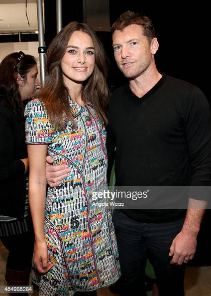 Actors Keira Knightley and Sam Worthington attend the Variety Studio presented by Moroccanoil at Holt Renfrew during the 2014 Toronto International...