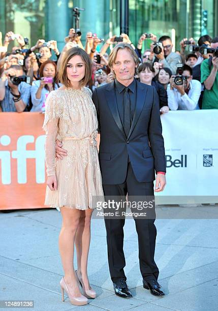 Actors Keira Knightley and Viggo Mortensen attend 'A Dangerous Method' Premiere at Roy Thomson Hall during the 2011 Toronto International Film...