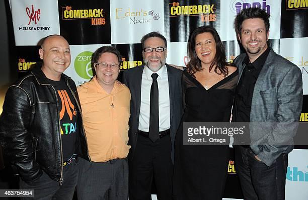Actors Keith Coogan Scott Schwartz Rick Horvitz Melissa Disney and Ryan Paul James arrive for 'The Comeback Kids' Los Angeles Special Screening held...