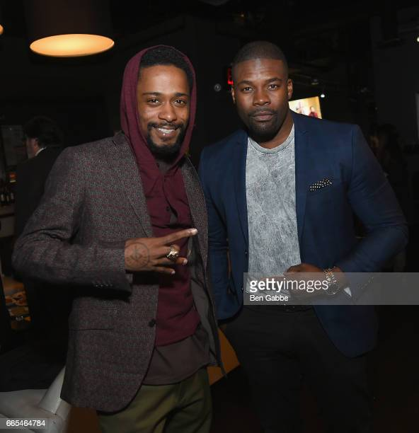 Actors Keith Stanfield and Amin Joseph attend 8th Annual FX AllStar bowling party at Lucky Strike on April 6 2017 in New York City