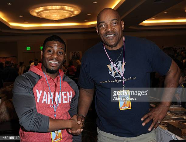 Actors Kel Mitchell and Ken Foree at The Hollywood Show held at The Westin Hotel LAX on January 24 2015 in Los Angeles California