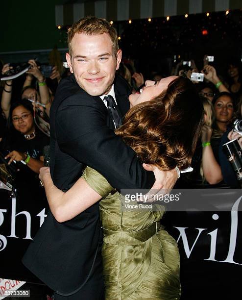 Actors Kellan Lutz and Elizabeth Reaser attend the premiere of Summit Entertainment's 'Twilight' at The Mann Village and Bruin Theatres on November...